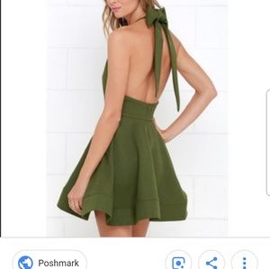 NWT Luxxel Green Skater Dress